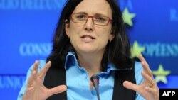 Европскиот комесар за внатрешни работи Сесилија Малстром.