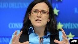 Еврокомесарката за внатрешни работи Сесилија Малстром.