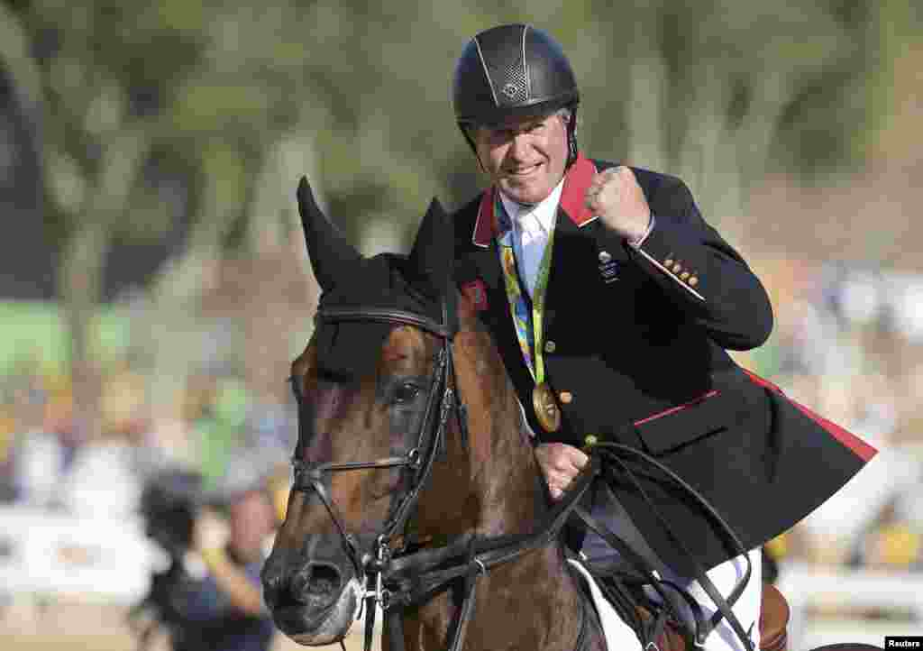 Fifty-eight-year-old Briton Nick Skelton gave older generations a thrill when he rode his horse Big Star to a gold medal win in the individual-jumping equestrian event. He was the oldest gold-medal winner since 1908.