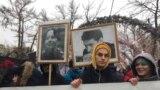 Акіція пам'яті у Москві убитого 10 років тому правозахисника Станіслава Маркелова та журналістки Анастасії Бабурової. Росія, Москва, 19 січня 2019 року