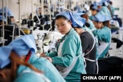 Текстильная фабрика в китайском городе Хуайбэй