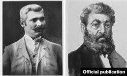Vasile Stroescu (stânga) și Vladimir Herța, doi mari latifundiari, lideri ai mișcării de eliberarea națională din Basarabia