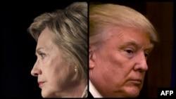 АҚШ президенттігіне Демократиялық партия мен Республикашыл партия атынан түсуге үміткерлер Хиллари Клинтон (сол жақта) және Дональд Трамп.