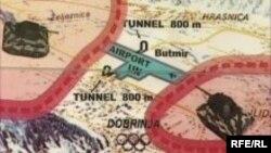 Mapa sarajevskog tunela