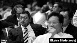 Гафур Рахимов (слева) на спортивном конгрессе в Анкаре. Турция, декабрь 1998 года.