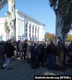 Очередь на похороны Арсена Павлова («Моторолы»). Донецк, 19 октября 2016 года