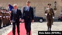 Predsjednik Evropske komisije Jean Claude Juncker i hrvatski premijer Andrej Plenković