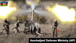 Azerbejdžanski vojnici tokom borbe 20. oktobra