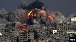 Израил армиясынын чабуулунан кийинки Газа шаарынын түштүк тарабы, 29-июль, 2014