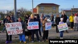 Пикет против строительства мусоросортировочного завода в Каменке, апрель 2019 года
