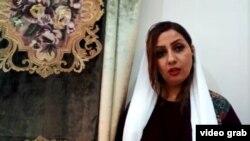 Iranian activist Narges Mansoori, a signatory of a letter asking for Iran's Supreme Leader Ali Khamenei's resignation.