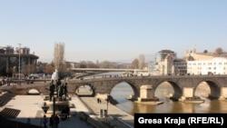 Pamje në Shkup...