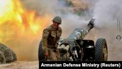 Альберт Ованнисян во время боевых действий, 28 сентября 2020 г․