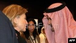 د امریکا د بهرنو چارو وزیره هیلري کلنټن او د سعودي عرب د بهرنو چارو سعود الفیصل