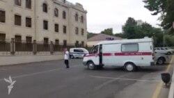 Polis şöbəsinə təcili tibbi yardım çağırılıb (video-9)