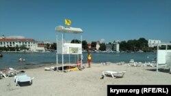 Пляж «Омега» в Севастополе, июль 2021 года