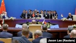 Встреча представителей Шанхайской организации сотрудничества (ШОС). Иллюстративное фото.