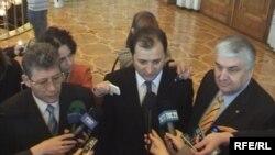 Mihai Ghimpu, Vlad Filat, Serafim Urechean