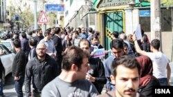 یکی از تجمعات اعتراضی قبلی در برابر سفارت پاکستان در تهران