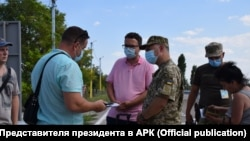 Антон Кориневич на КПВВ «Каланчак»