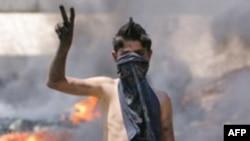 درگیری های خیابانی روز پنجشنبه در بیروت ادامه داشت. (عکس از AFP)