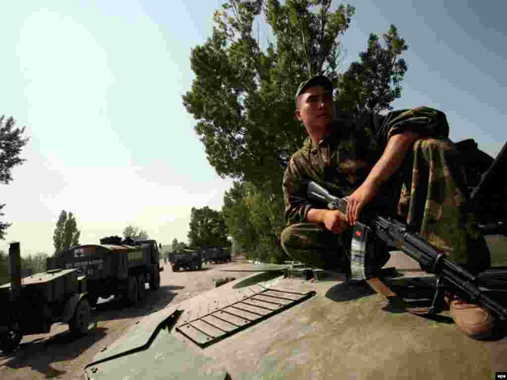 Вывод вооруженных сил РФ из Грузии, Гори, 22 августа 2008