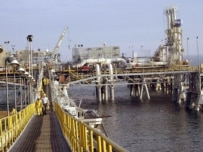 The oil terminal at Al-Basrah (epa file photo)