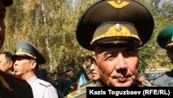 Отставкадағы генерал-майор Сармантай Нұрғажин. Алматы, 26 қыркүйек 2013 жыл.