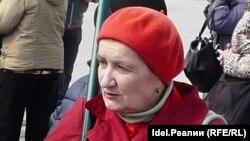 Наталья Баранова на Марше в поддержку пенсионеров