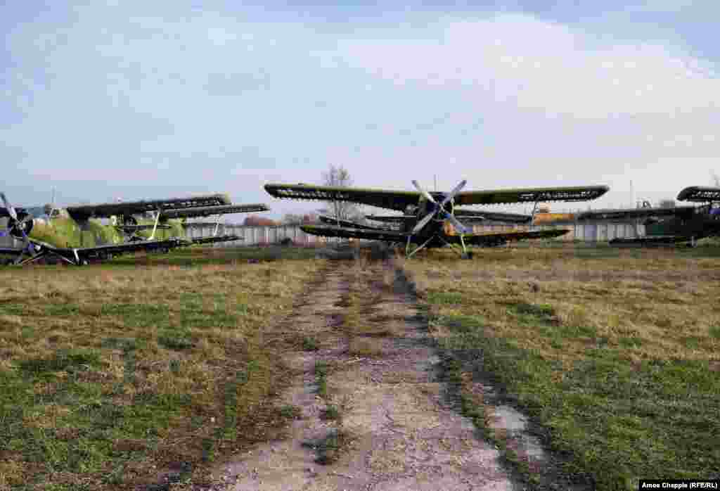 This is Shyroke Airfield, a few kilometers from the eastern Ukrainian city of Zaporizhzhya. The airfield was once used to train Soviet pilots for civilian and combat roles.