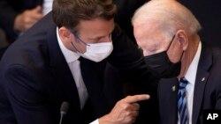 Președinții Macron și Biden