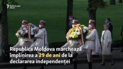 29 de ani de independență: flori, monumente, proteste răzlețe....și măști