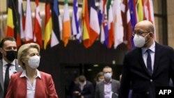Председатель Европейской комиссии Урсула фон дер Ляйен и президент Европейского Совета Шарль Мишель.