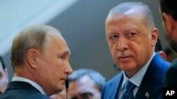 Ռուսաստանի նախագահ Վլադիմիր Պուտին և Թուրքիայի նախագահ Ռեջեփ Էրդողան, արխիվ
