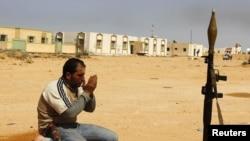 یکی از شورشیان لیبی