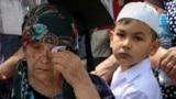 На жалобному заході, присвяченому 75-й річниці депортації кримських татар. Крим, Бахчисарайський район, село Сірень, 18 травня 2019 року