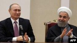 Владимир Путин и иранский лидер Хасан Рухани встретились, чтобы послать сигнал Вашингтону