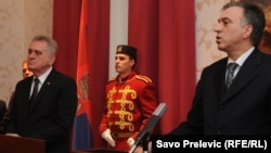 Tomislav Nikolić i Filip Vujanović u Podgorici, 18. januar 2013.