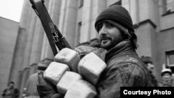 Luptători ceceni la Groznîi