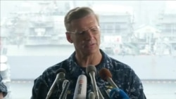 Vice Admiral Joseph Aucoin, U.S. 7th Fleet Commander, Speaking to Media