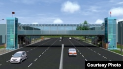 Эскизный проект надземного перехода на улице Курманжан Датки.