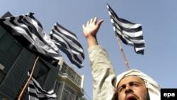 Pakistanda islamçı Jamiat Ulma-e-Islam partiyasının fəallarının etiraz aksiyası, 4 İyun 2010-cu il