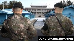 Zonë kufitare në Korenë Veriore, ilustrim.