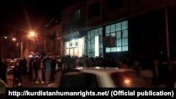 تجمع در شهرستان نوسود در اعتراض به تیراندازی به کولبران