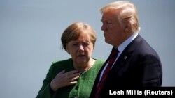 Presidenti amerikan, Donald Trump dhe kancalarja gjermane, Angela Merkel, foto nga arkivi.