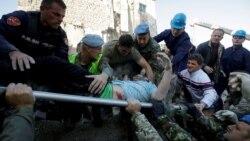 Shpëtimi i një personi nga rrënojat në Thumanë
