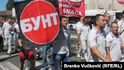 Radnici Fijata u protestnoj šetnji