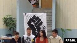 """Членови на студентското движење ,,Слободен индекс"""""""