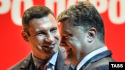 Having an ally in President-elect Petro Poroshenko (right) can only help Vitali Klitschko clean up Kyiv.