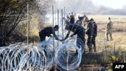 Бодликава жица на границата меѓу Словенија и Хрватска.